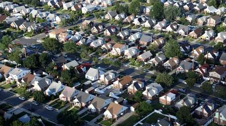Photo shows a neighborhood in Elmont in July