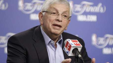 NBA Commissioner David Stern takes questions before Game