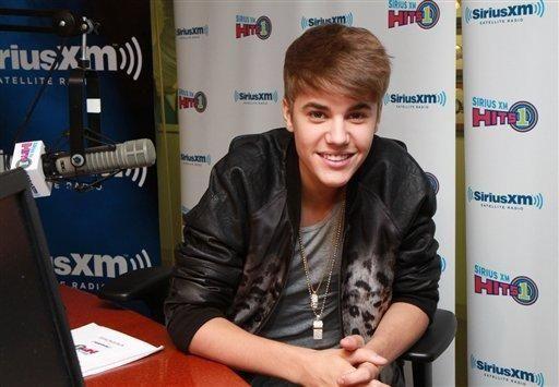 Justin Bieber at the SiriusXM Hits 1 studio