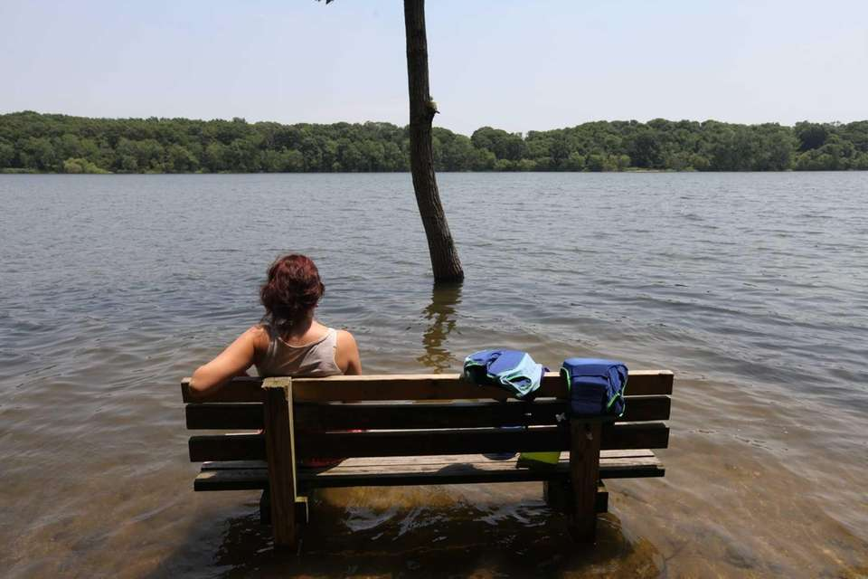 Joanna Kowalski, of Maspeth, Queens, takes in the