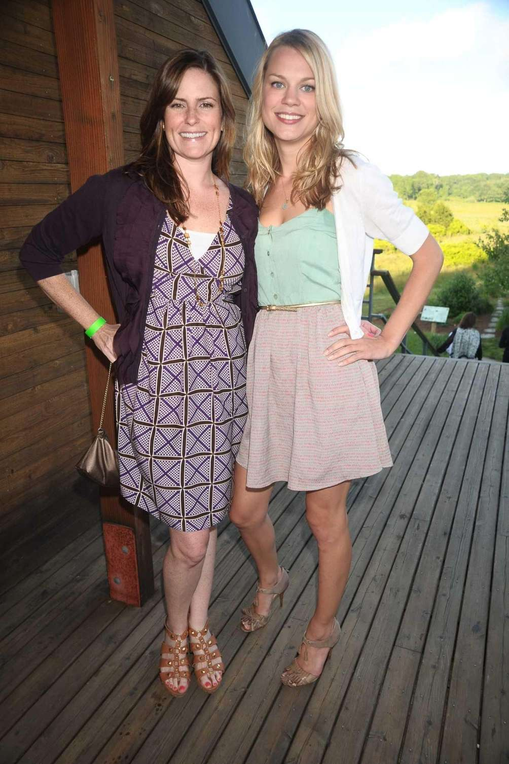 Erin Dayton and Geneive Sloup attend the South