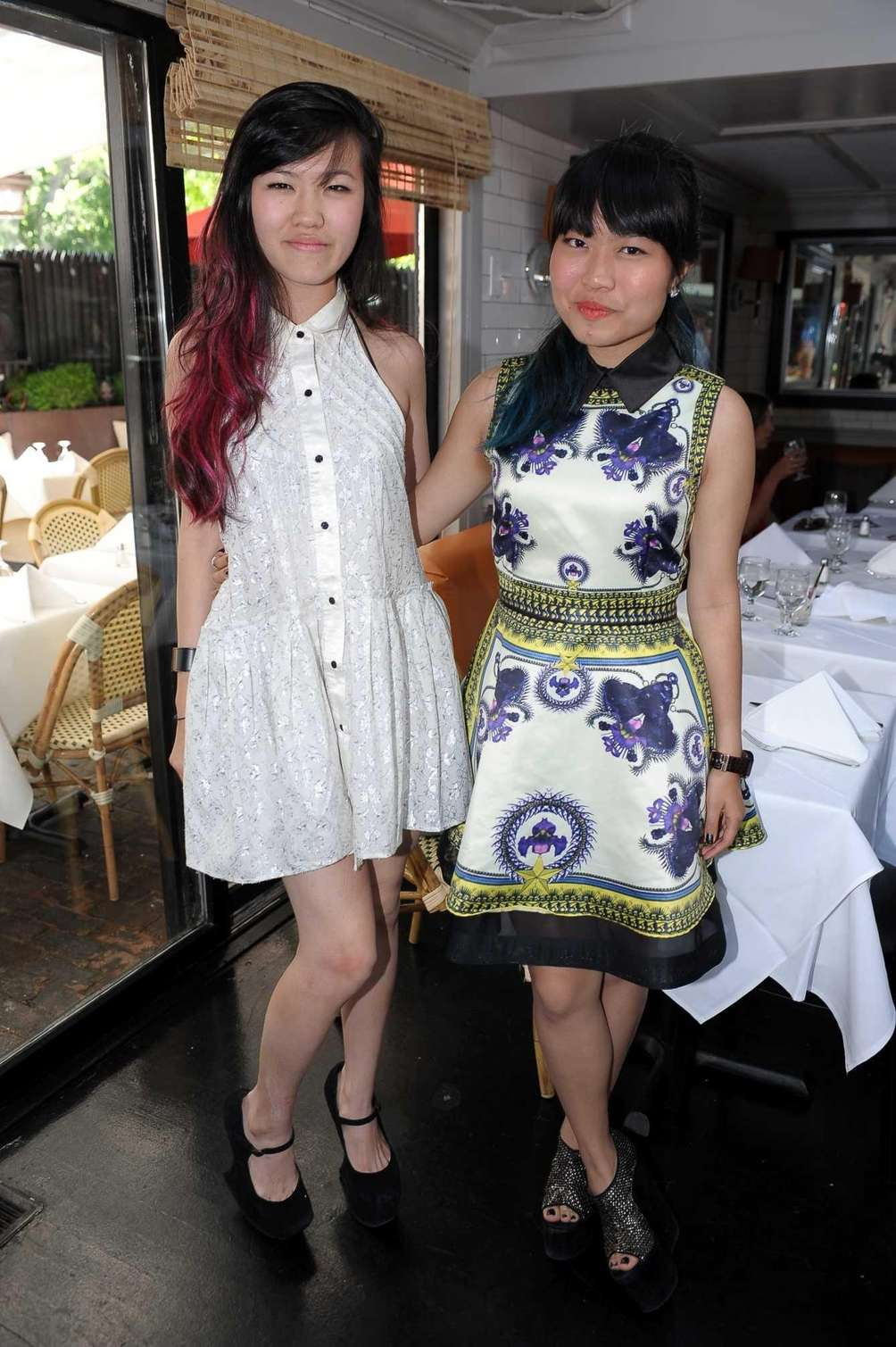 Rachel and Nicole Effendy at the Beaumarchais Champaign