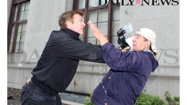 Alec Baldwin shoves Daily News photographer Marcus Santos
