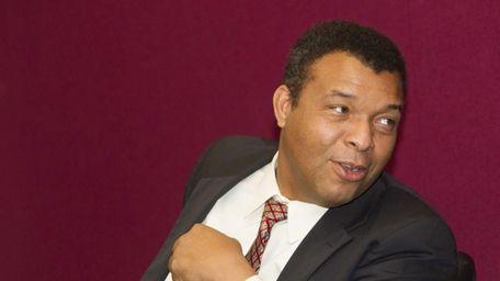 Suffolk County Legislator,William Spencer, at Riverhead Legislative Auditorium,