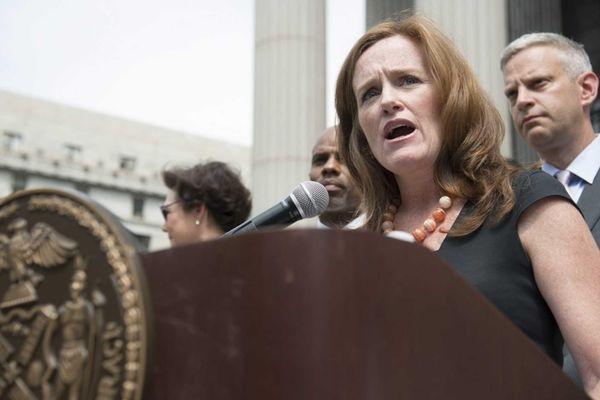 Nassau County District Attorney Kathleen M. Rice, speaks