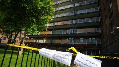 Residents, after a 5 alarm fire on Sunday,
