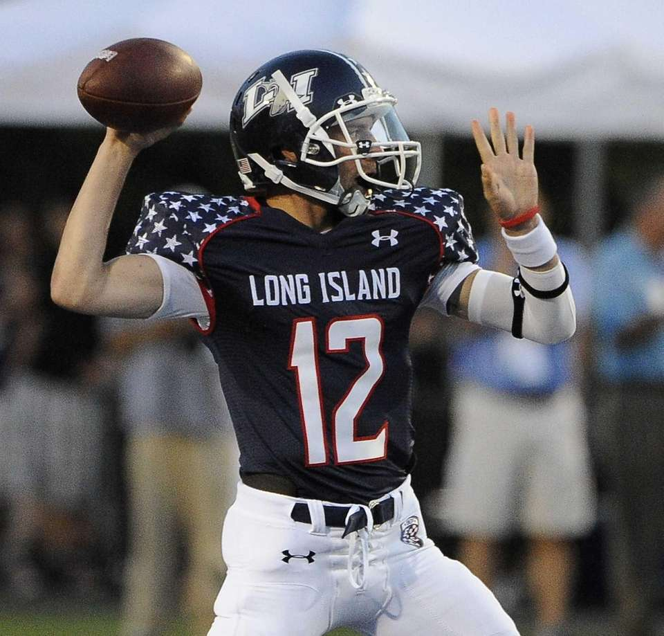 Long Island quarterback Steven Ferreira looks to make