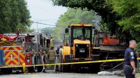 A tractor-trailer driver was killed when his truck