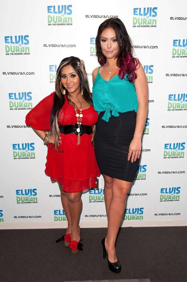 "Nicole ""Snooki"" Polizzi, left, and Jenni ""JWoww"" Farley"