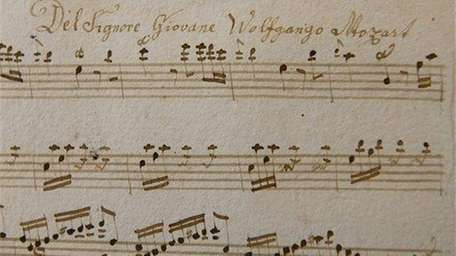 A sheet of music, recently identified as a