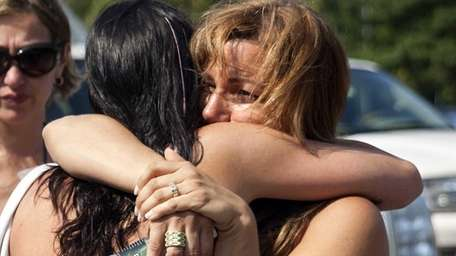 Tracy Bryant, left, of Sayville and Marguerite Hachem,