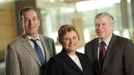 Stony Brook University researchers Alexander Dagum, left, Marie