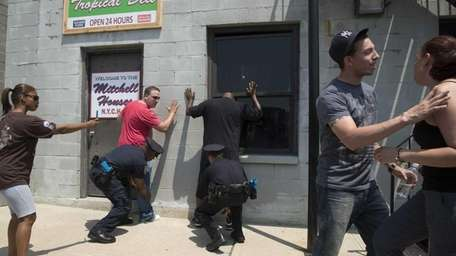 The NYPD demonstrated training scenarios where they use,