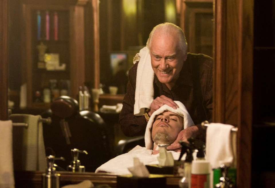 A little father-son time: JR (Larry Hagman) and