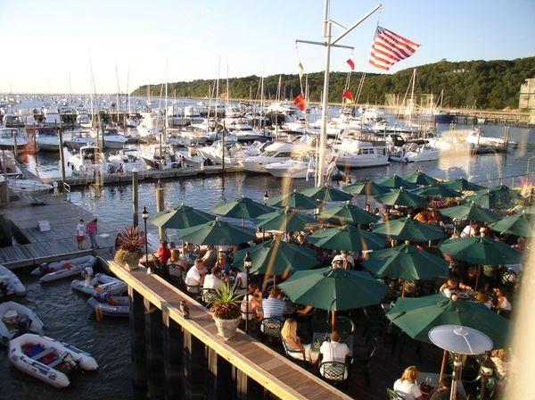 On the deck of Port Jefferson landmark Danfords