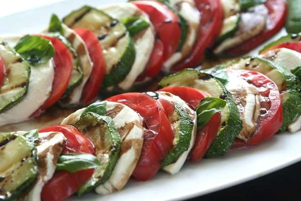 Grilled zucchini offers a twist to the classic