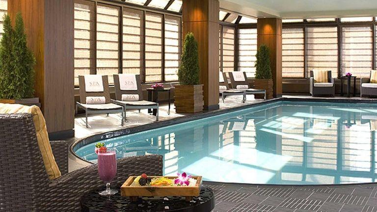 The pool at ESPA, the spa at the