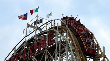 Coney Island's Cyclone, which made its debut on