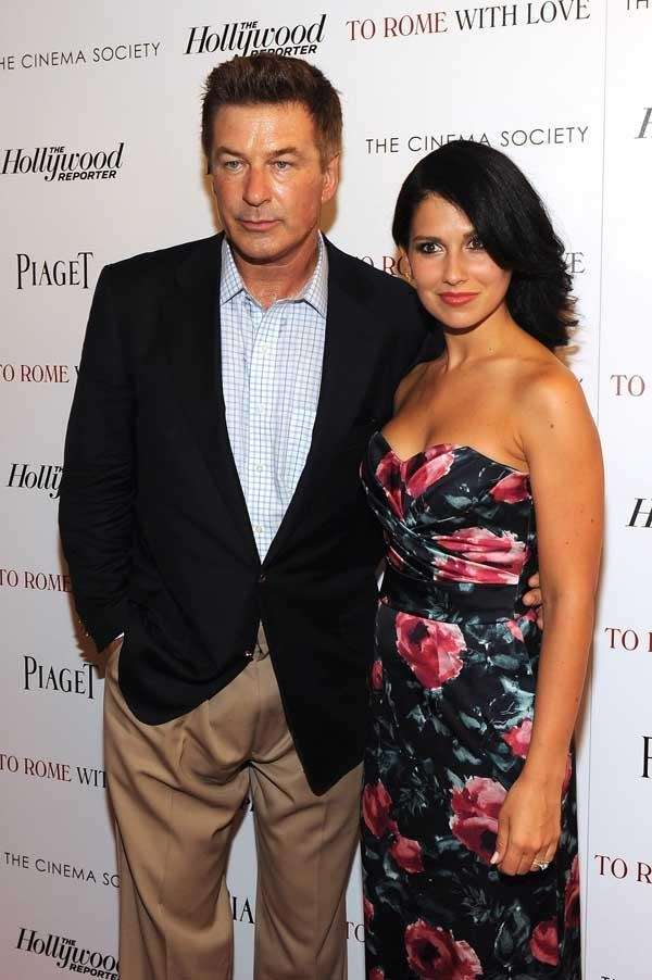 Alec Baldwin and Hilaria Thomas at screening of