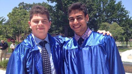 Jake Gershenson, 17, right, and Mitchell Plotkin, 17,