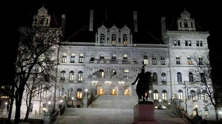 The New York State Capitol in Albany. (March