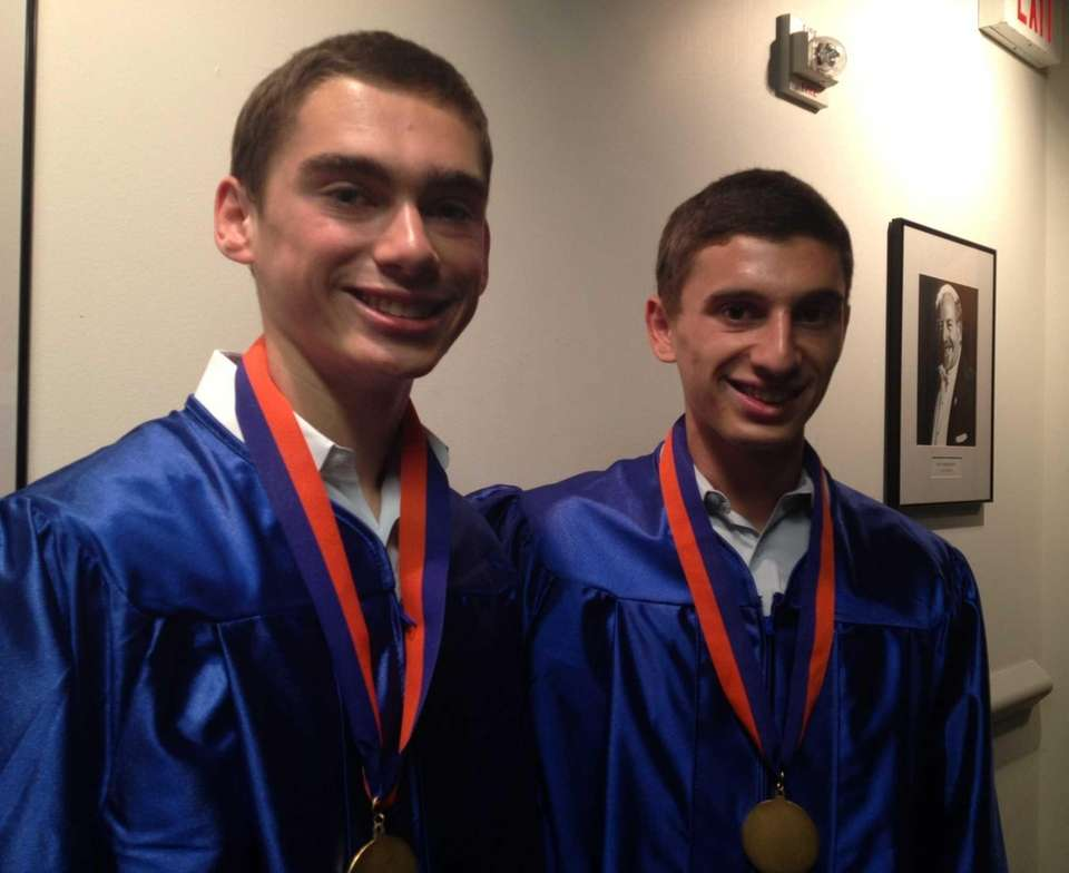 Twin brothers Brian Rosenfeld, 17, left, and Josh
