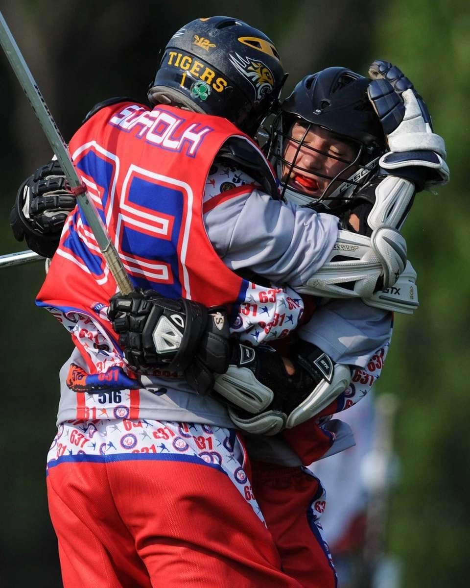 Suffolk #36 Joseph Caridi of Sachem North, right,