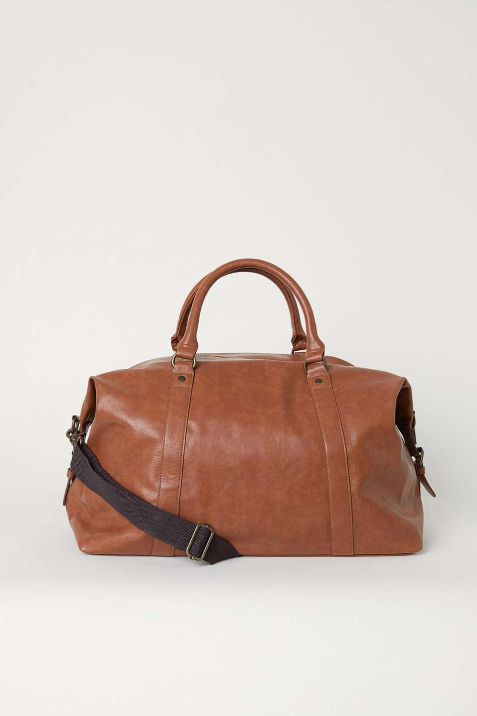 This faux leather bag is perfect for a