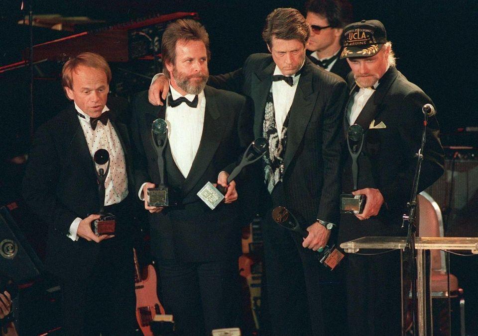 The Beach Boys, from left, Al Jardine, Carl