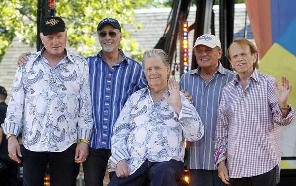 Original members of The Beach Boys, from left,