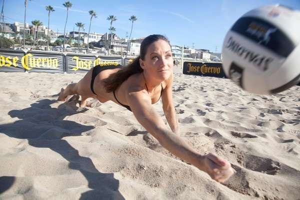 Former NCAA volleyball champion Christal Engle in a