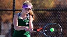 Westhampton's Julia Stabile returns the volley in the