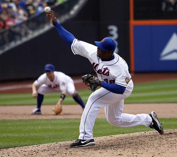 Mets relief pitcher Frank Francisco recored his 13th