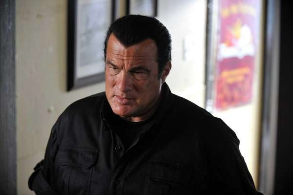 "Steven Seagal in a scene from ""True Justice."""