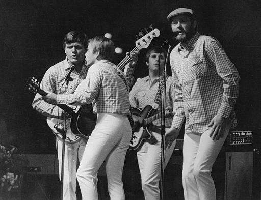 The Beach Boys performing on stage in Essen,