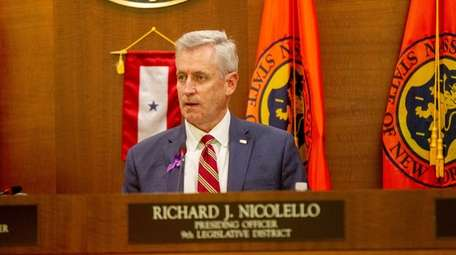 Nassau County Legislature Richard J. Nicolello during the