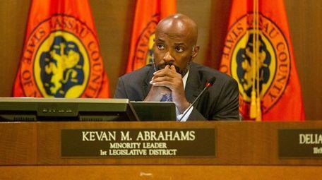 Nassau County Legislature Kevan Abrahams during the legislature