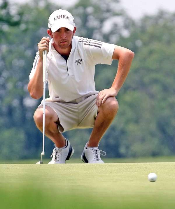 Tim Rosenhouse concentrates on a putt during the