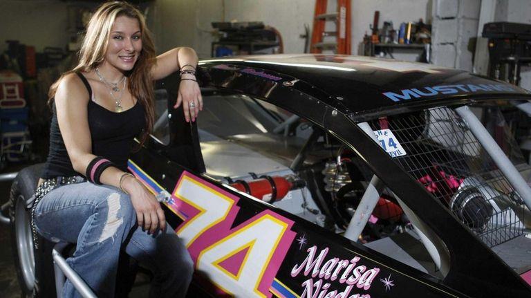 Marisa Niederauer, a modified race car driver is