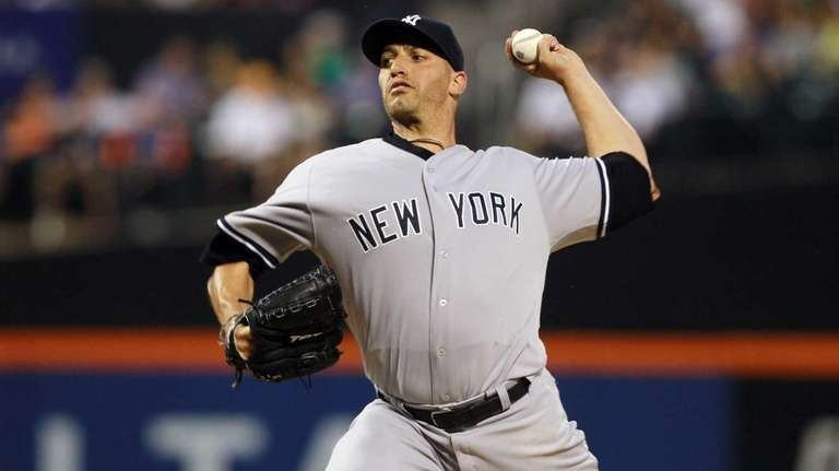 Andy Pettitte delivers a pitch against the New