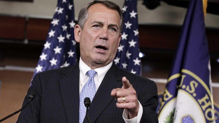 House Speaker John Boehner defends the contempt of