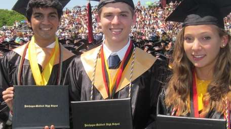 From left: Patchogue-Medford High School graduates Saad Amer,