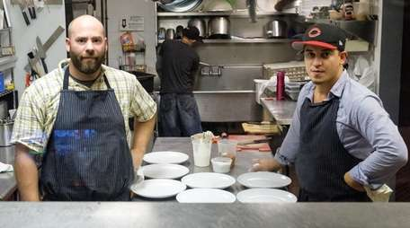 Chefs Tate Morris and Jonathan Contes in the