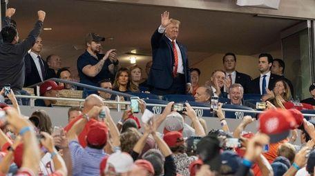 President Donald Trump on Sunday at World Series