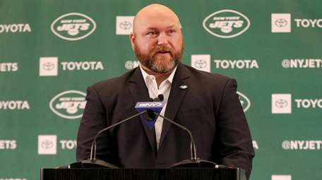 Jets first-year general manager Joe Douglas listened to