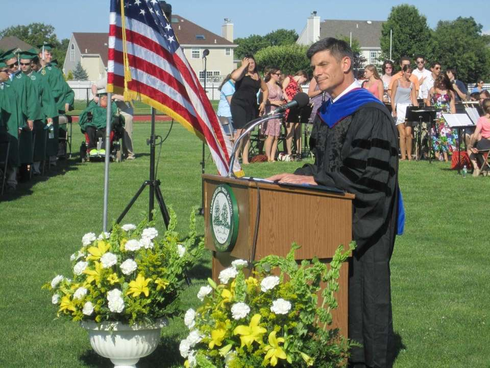 Dr. David Bennardo, principal of Harborfields High School