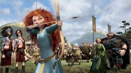 The character Merida, voiced by Kelly Macdonald, in