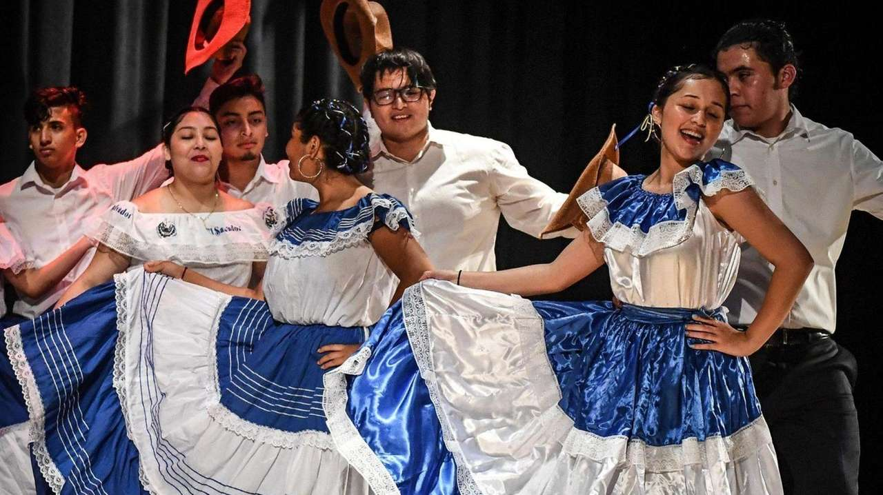 Students performed onstage Tuesday at Roosevelt High School