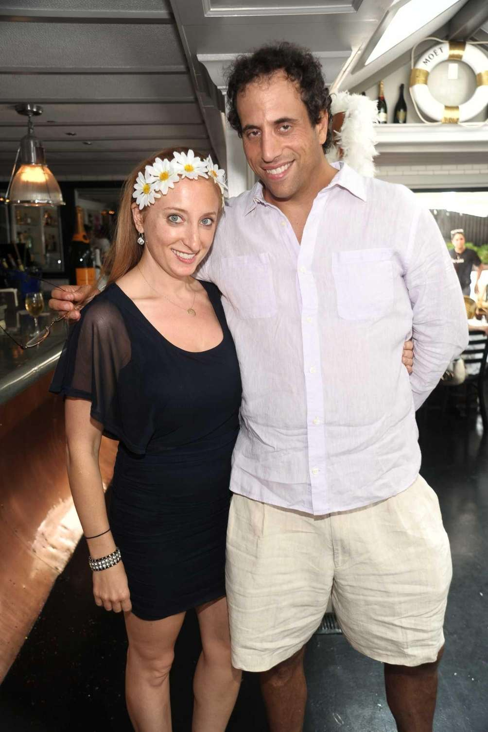 Amy Ackerman and Ira Kaufman attend the Moet