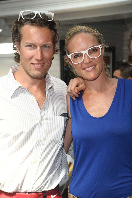 Reno Vassur and Jenny Vassur attend the Moet